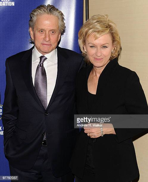 Actor Michael Douglas and Tina Brown attend the 32nd Annual New York City Police Foundation Gala at The Waldorf=Astoria on March 16 2010 in New York...