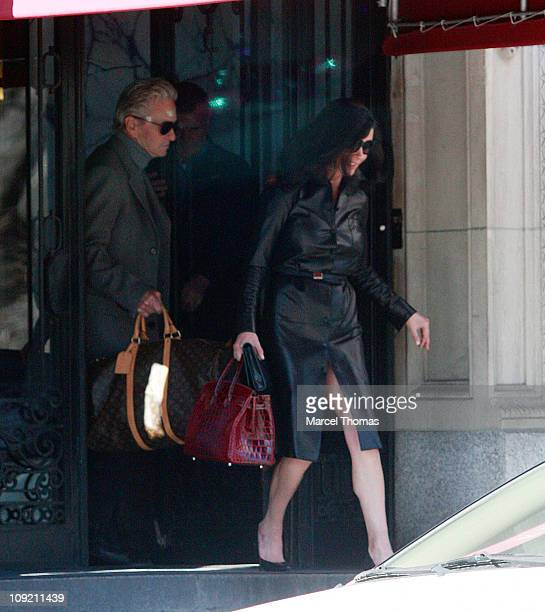 Actor Michael Douglas and wife actress Catherine Zeta Jones are seen on the Streets of Manhattan on February 16 2011 in New York City