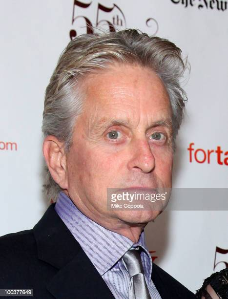 Actor Michael Douglas arrives at the 55th Annual Drama Desk Awards at the FH LaGuardia Concert Hall at Lincoln Center on May 23 2010 in New York City