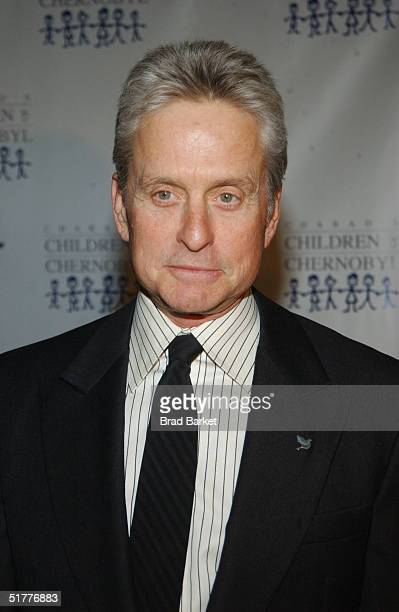 Actor Michael Douglas arrives at the Children At Heart Gala To Benefit Children Of Chernobyl on November 22 2004 at Pier 60 at the Chelsea Piers in...