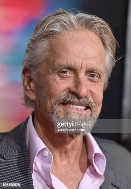 Actor Michael Douglas arrives at the premiere of 'Flatliners' at The Theatre at Ace Hotel on September 27 2017 in Los Angeles California