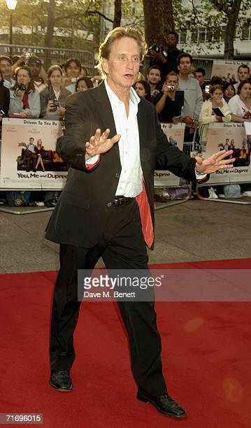 Actor Michael Douglas arrives at the UK premiere of 'You Me Dupree' at Odeon Leicester Square on August 22 2006 in London England