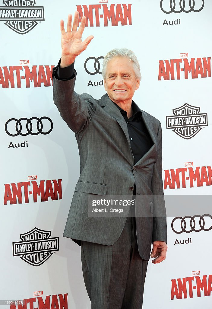 Actor Michael Douglas arrives for the Premiere Of Marvel's 'Ant-Man' held at Dolby Theatre on June 29, 2015 in Hollywood, California.