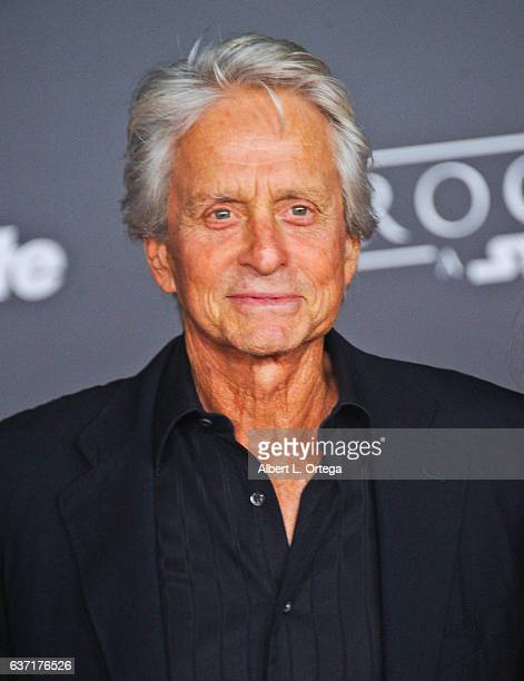 Actor Michael Douglas arrives for the Premiere Of Walt Disney Pictures And Lucasfilm's 'Rogue One A Star Wars Story' held at the Pantages Theatre on...