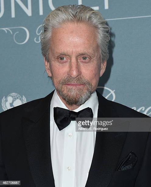 Actor Michael Douglas arrives to the 2014 UNICEF Ball Presented by Baccarat at the Regent Beverly Wilshire Hotel on January 14 2014 in Beverly Hills...