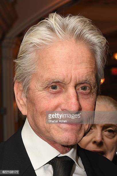 Actor Michael Douglas at the 2016 World Jewish Congress Herzl Award Dinner at The Pierre Hotel on November 9 2016 in New York City