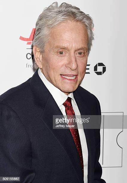 Actor Michael Douglas attends AARP's Movie For GrownUps Awards at the Regent Beverly Wilshire Four Seasons Hotel on February 8 2016 in Beverly Hills...