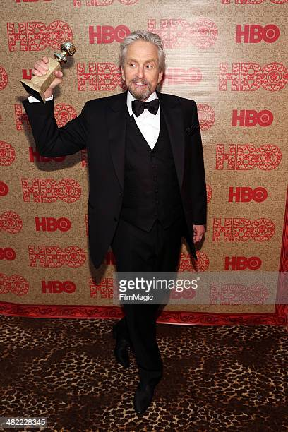 Actor Michael Douglas attends HBO's Official Golden Globe Awards After Party at The Beverly Hilton Hotel on January 12 2014 in Beverly Hills...