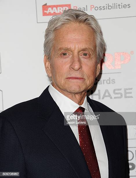 Actor Michael Douglas attends the 15th annual Movies For Grownups Awards at the Beverly Wilshire Four Seasons Hotel on February 8 2016 in Beverly...