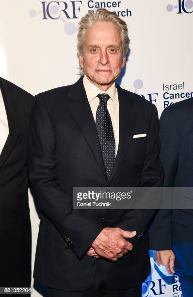 Actor Michael Douglas attends the 2017 Israel Cancer Research Fund Gala at The Ziegfeld Ballroom on November 28 2017 in New York City