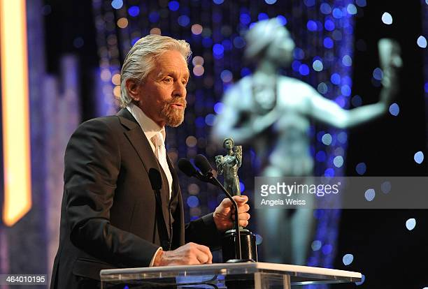 Actor Michael Douglas attends the 20th Annual Screen Actors Guild Awards at The Shrine Auditorium on January 18, 2014 in Los Angeles, California.