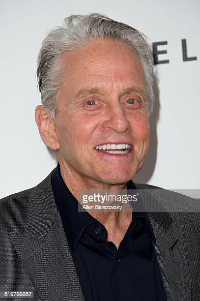 Actor Michael Douglas attends the 5th Annual Reel Stories Real Lives Benefiting MPTF at Milk Studios on April 7 2016 in Los Angeles California