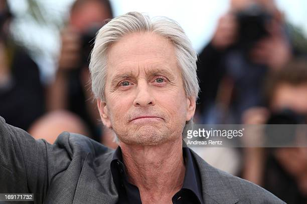 Actor Michael Douglas attends the 'Behind The Candelabra' Photocall during The 66th Annual Cannes Film Festival at the Palais des Festivals on May 21...
