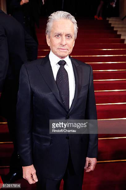 Actor Michael Douglas attends the Cesar Film Award 2016 at Theatre du Chatelet on February 26 2016 in Paris France