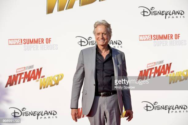 Actor Michael Douglas attends the European Premiere of Marvel Studios 'AntMan And The Wasp' at Disneyland Paris on July 14 2018 in Paris France