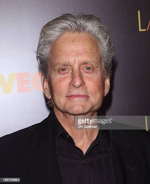 """Actor Michael Douglas attends the """"Last Vegas"""" premiere at the Ziegfeld Theater on October 29, 2013 in New York City."""
