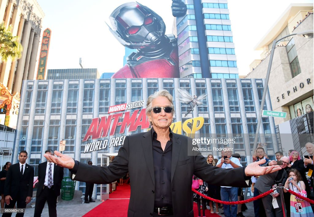 Actor Michael Douglas attends the Los Angeles Global Premiere for Marvel Studios' 'Ant-Man And The Wasp' at the El Capitan Theatre on June 25, 2018 in Hollywood, California.