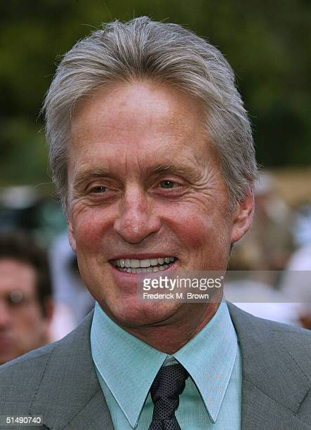 Actor Michael Douglas attends the Palm Springs International Film Society and its Film Festival honoring actor Kirk Douglas on October 17 2004 at the...