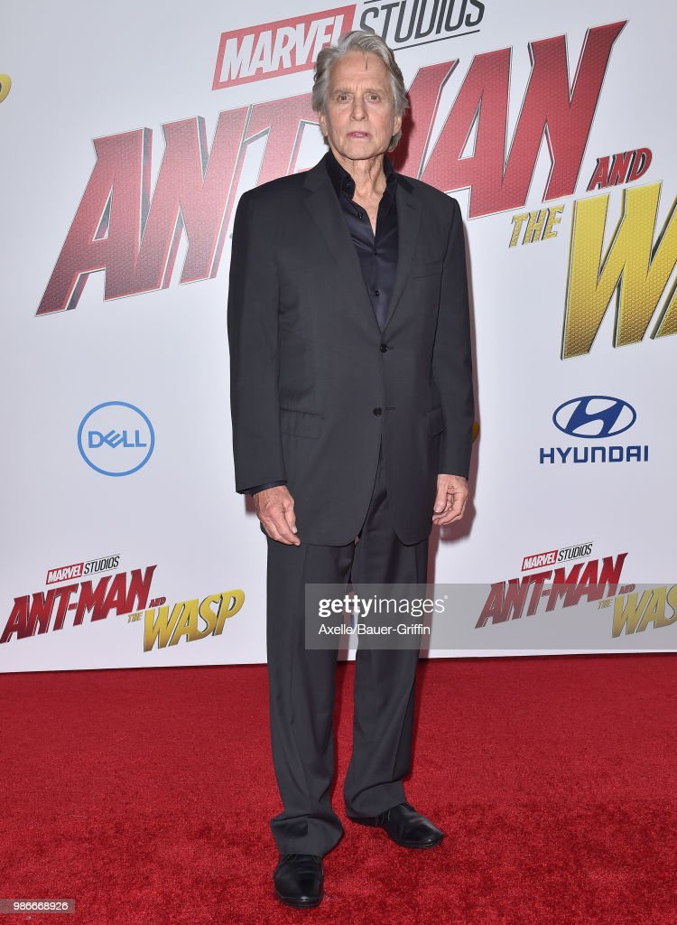 Actor Michael Douglas attends the premiere of Disney and Marvel's 'Ant-Man and the Wasp' at El Capitan Theatre on June 25, 2018 in Hollywood, California.