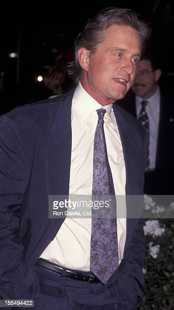 Actor Michael Douglas attends the premiere of The Game on September 8 1997 at Mann Chinese Theater in Hollywood California