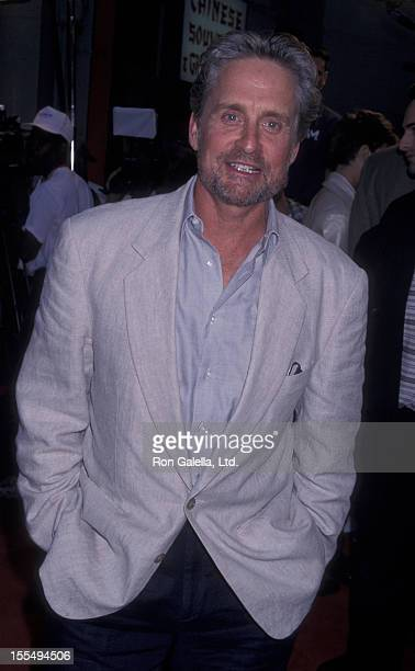 Actor Michael Douglas attends the world premiere of Face Off on June 19 1997 at Mann Chinese Theater in Hollywood California