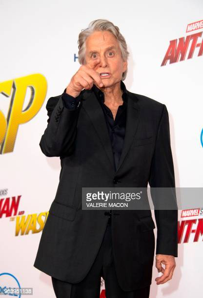 Actor Michael Douglas attends the World Premiere of Marvel Studios AntMan and The Wasp at the El Capitan Theater on June 25 in Hollywood California