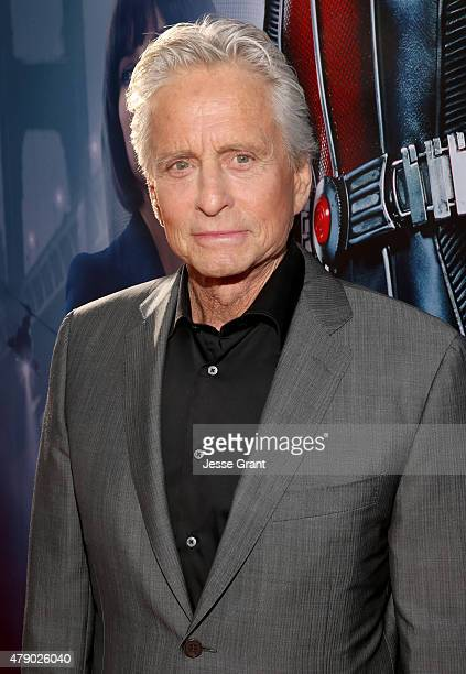 Actor Michael Douglas attends the world premiere of Marvel's 'AntMan' at The Dolby Theatre on June 29 2015 in Los Angeles California