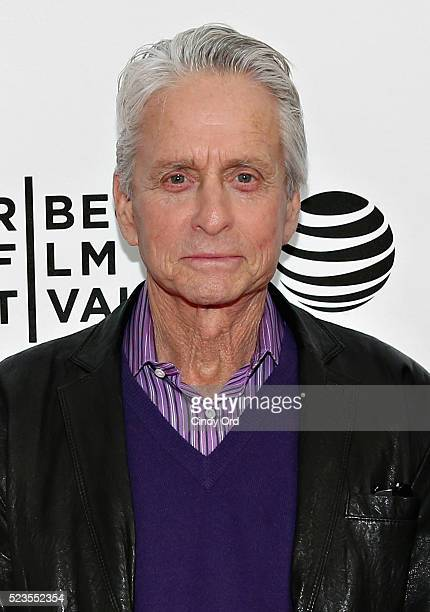 Actor Michael Douglas attends Tribeca Talks What We Talk About When We Talk About The Bomb during the 2016 Tribeca Film Festival at SVA Theatre 2 on...