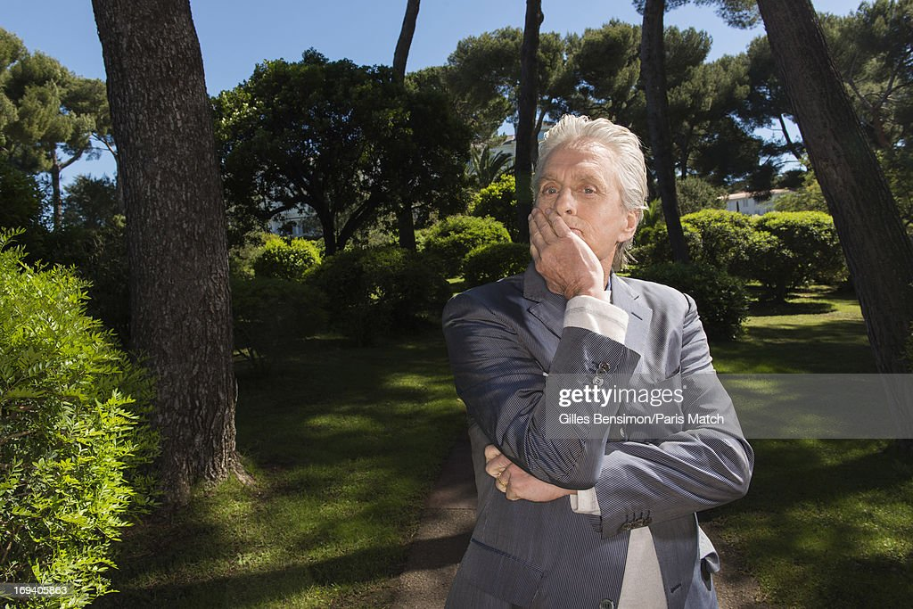 Actor Michael Douglas is photographed for Paris Match on May 20, 2013 in Cannes, France.