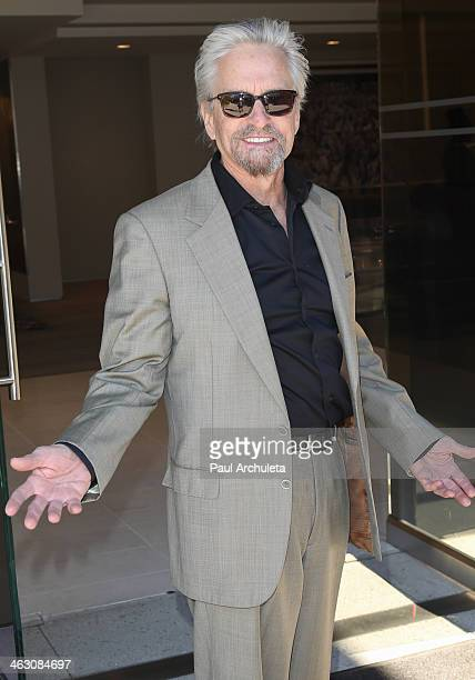 Actor Michael Douglas is seen in Beverly Hills on January 16 2014 in Los Angeles California