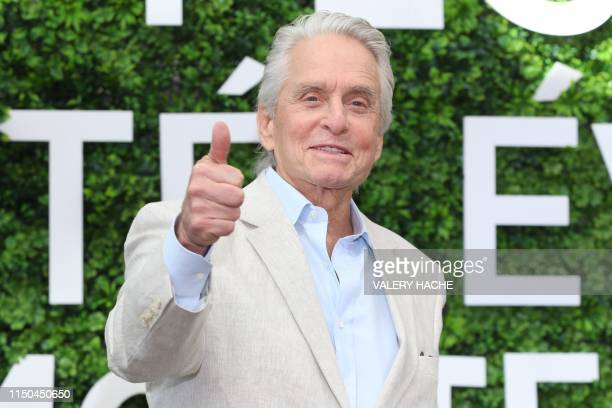 US actor Michael Douglas poses for a photocall as part of the 59th MonteCarlo Television Festival on June 18 2019 in Monaco
