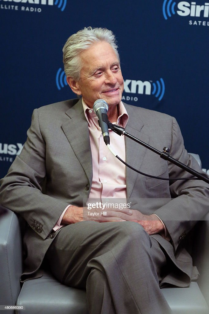 Actor Michael Douglas promotes Marvel's 'Ant-Man' in a Town Hall with Paul Rudd and Jess Cagle on EW Radio at SiriusXM Studios on July 14, 2015 in New York City.