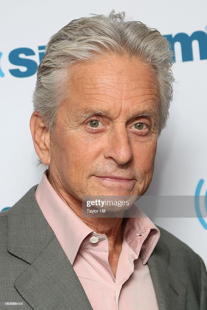Actor Michael Douglas visits the SiriusXM Studios on July 14, 2015 in New York City.