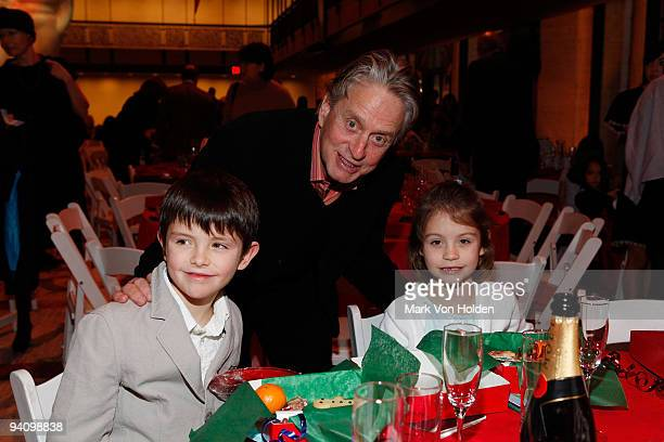 Actor Michael Douglas with son Dylan Michael Douglas and daughter Carys Zeta Douglas at the New York City Ballet the School of American Ballet...
