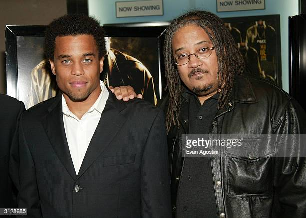 Actor Michael Ealy and director Ernest Dickerson attend the New York Premiere of Never Die Alone on March 24 2004 at the Clearview Chelsea West...