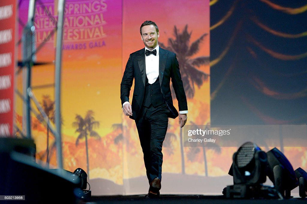 Actor Michael Fassbender accepts the International Star Award onstage at the 27th Annual Palm Springs International Film Festival Awards Gala at Palm Springs Convention Center on January 2, 2016 in Palm Springs, California.
