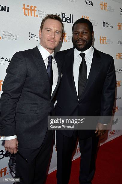 Actor Michael Fassbender and director Steve McQueen arrive at the 12 Years A Slave premiere during the 2013 Toronto International Film Festival at...