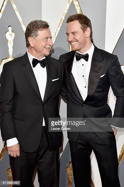 Actor Michael Fassbender and guest attend the 88th Annual Academy Awards at Hollywood & Highland Center on February 28, 2016 in Hollywood, California.