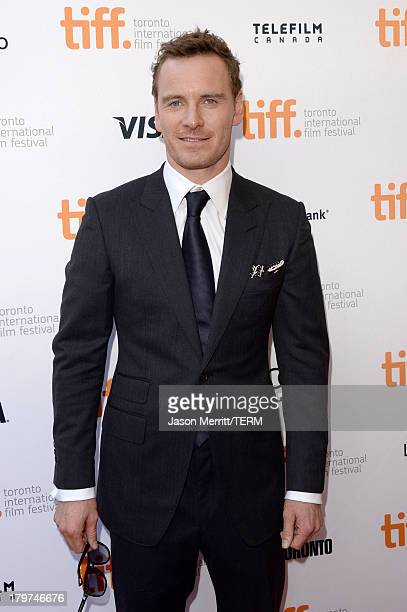 Actor Michael Fassbender arrives at the 12 Years A Slave premiere during the 2013 Toronto International Film Festival at the Princess of Wales...