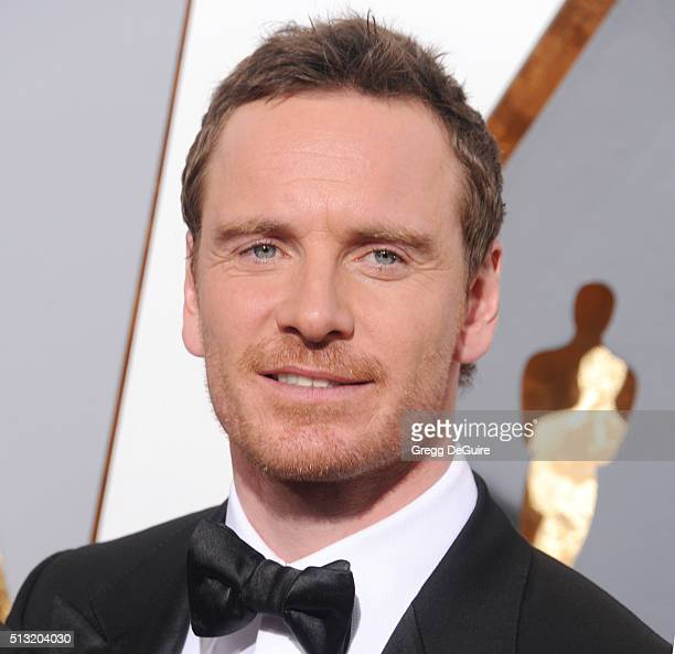 Actor Michael Fassbender arrives at the 88th Annual Academy Awards at Hollywood Highland Center on February 28 2016 in Hollywood California