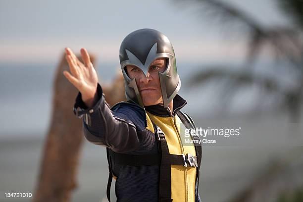 Actor Michael Fassbender as Erik Lehnsherr, aka Magneto in a scene from the film 'X-Men: First Class', 2011.