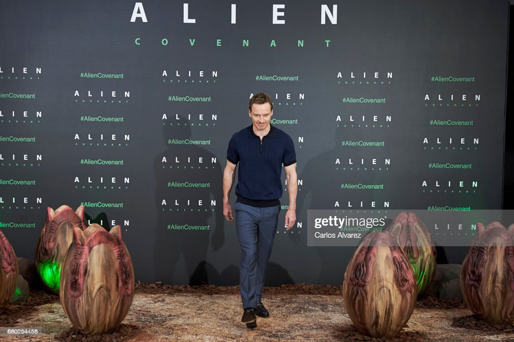 Actor Michael Fassbender attends 'Alien: Covenant' photocall at the Villa Magna hotel on May 8, 2017 in Madrid, Spain.