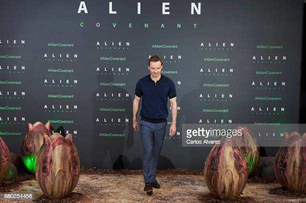 Actor Michael Fassbender attends 'Alien Covenant' photocall at the Villa Magna hotel on May 8 2017 in Madrid Spain