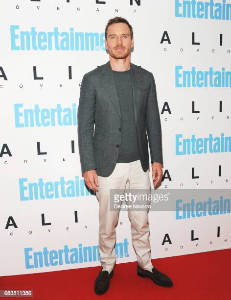 Actor Michael Fassbender attends 'Alien Covenant' Special Screening at Entertainment Weekly on May 15 2017 in New York City