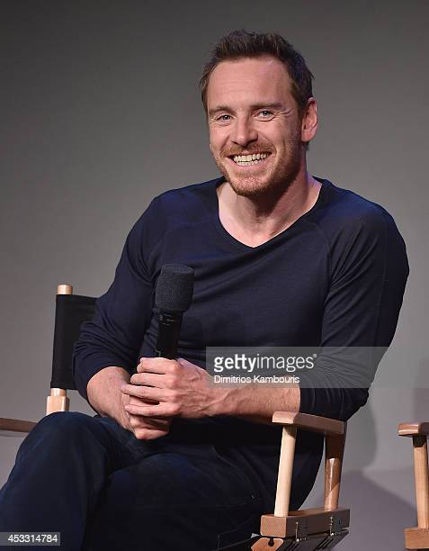 Actor Michael Fassbender attends 'Meet The Actor' at Apple Store Soho on August 7 2014 in New York City