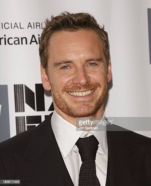 Actor Michael Fassbender attends the 12 Years A Slave Premiere during the 51st New York Film Festival at Alice Tully Hall at Lincoln Center on...