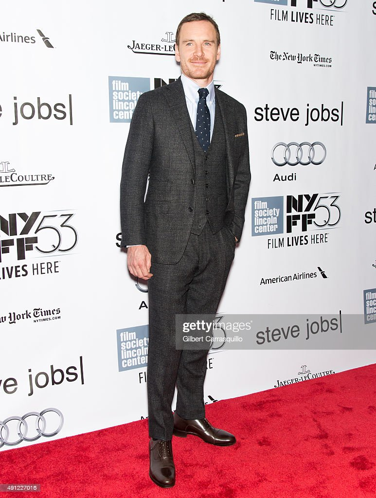 Actor Michael Fassbender attends the 53rd New York Film Festival - 'Steve Jobs' at Alice Tully Hall, Lincoln Center on October 3, 2015 in New York City.
