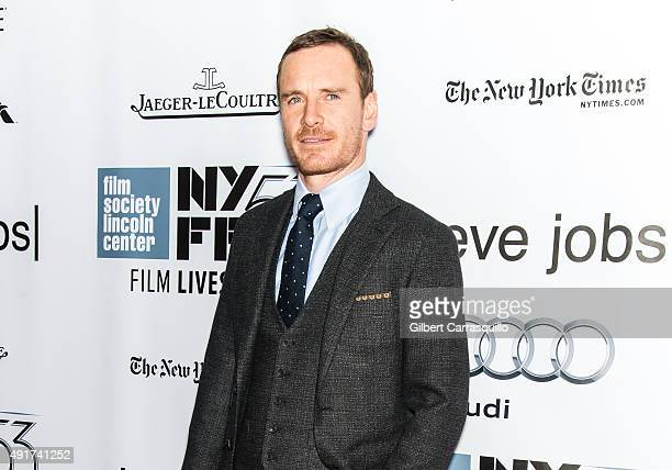 Actor Michael Fassbender attends the 53rd New York Film Festival 'Steve Jobs' at Alice Tully Hall Lincoln Center on October 3 2015 in New York City