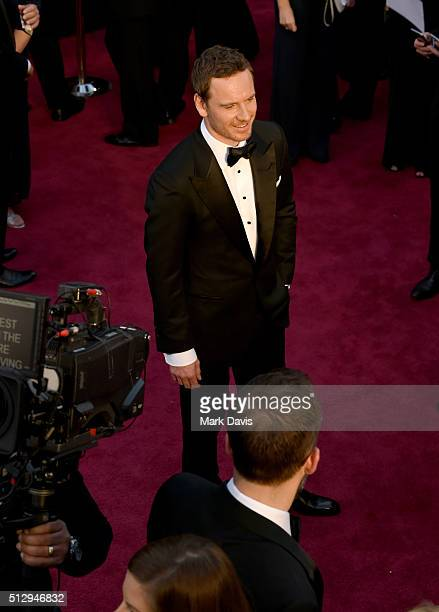 Actor Michael Fassbender attends the 88th Annual Academy Awards at Hollywood & Highland Center on February 28, 2016 in Hollywood, California.