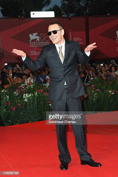 """Actor Michael Fassbender attends the """"A Dangerous Method"""" Premiere during the 68th Venice International Film Festival at Palazzo del Cinema on..."""